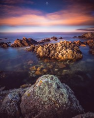 Time Flies By (Augmented Reality Images (Getty Contributor)) Tags: canon clouds colours cullen landscape leefilters logiehead longexposure morayfirth rocks scotland sunset water waves