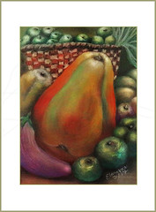 Harvest ( Pastels ) (pickled_newt) Tags: pastelpainting art harvest pastelmat softpastels medium painting elanevkm