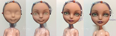 Ever After High - Madeline Hatter - Repaint Process (Art_emis) Tags: ever after high madeline hatter repaint process mattel dolls