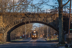 Back To The House (Darryl Rule's Photography) Tags: 2017 aestaley acela bridge buckscounty cpdq csao clouds cloudy conrailsharedassets dq dairyqueen delmoorave diesel diesels emd gp382 local march morrisville necorridor ns norfolksouthern northeastcorridor oldline overunder pa prr pennsy pennsylvania pennsylvaniarailroad railroad railroads staley staleylocal streetrunning sun tankcar tankcartrain tankcars tankers train trains winter ypmor1