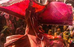 Transgender celebrating Holi series @ Nandgaon,Mathura. (vjisin) Tags: holi colours springfestival india incredibleindia indianheritage asia nikond3200 nikon indianboy action nandgaon mathura uttarpradesh brajholi joy temple surreal people happiness iamnikon festival travelphotography travel red transgender hijra