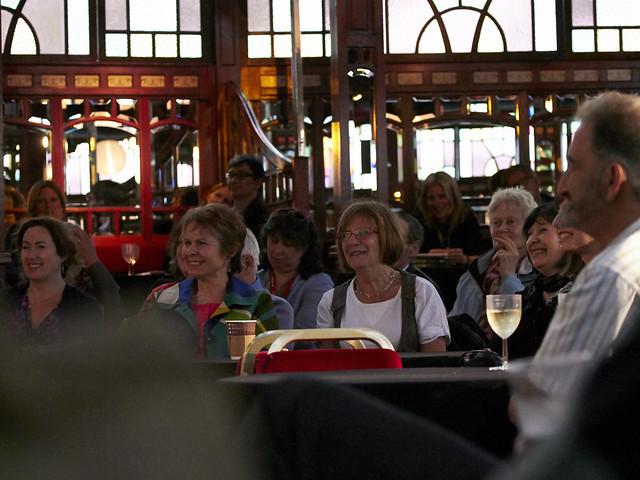 Audience enjoying Alain Mabanckou & Etgar Keret