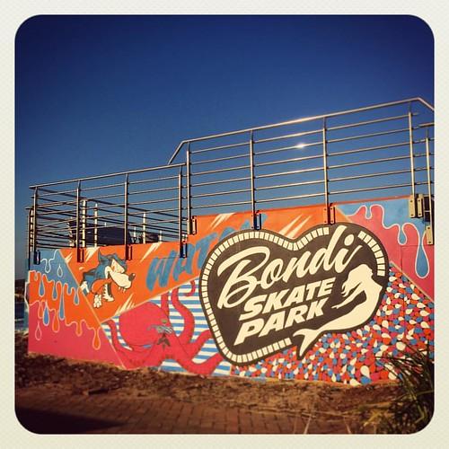 Skate Park Art #atbondi #bondi #beach #streetart #mulgatheartist #sydney #colour #bluesky #beasting