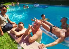 IMG_0270 (danimaniacs) Tags: shirtless man hot guy smile fun muscle muscular hunk swimmingpool raft speedo float stud bulge