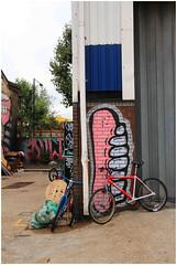 Hackney Wick Street Art (Mabacam) Tags: streetart london bike bicycle wall graffiti stencil mural teeth wallart gums urbanart freehand publicart piece aerosolart spraycanart stencilling hackneywick 2015 urbanwalls sweettoof