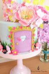 Fairy Door (Little Cottage Cupcakes) Tags: birthday party flower cakes cake garden cupcakes pastel peony fairy birthdaycake fairies magical gardenparty enchanted peonies fondant cupcaketower sugarart flowerfairy tieredcake fairycake sugarpaste cakeart girlcake littlecottagecupcakes