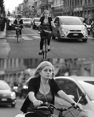 [La Mia Citt][Pedala] (Urca) Tags: portrait blackandwhite bw bike bicycle italia milano bn ciclista biancoenero mir bicicletta 2015 pedalare dittico 76774 nikondigitale ritrattostradale