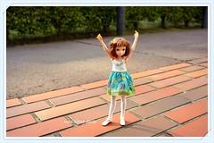 """Wishing you all a happy weekend!!"" :D (cute-little-dolls) Tags: favorite cute toy outside happy doll greeneyes kawaii greetings petworks ruruko"