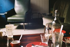 A sudden emptiness (Moesko Photography) Tags: morning glass coffee caf belgium analogue werra1