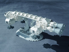 EAGLE 11 LEGO ((K_A) King_Arthur) Tags: show moon lune one tv noir lego eagle space 1999 modular scifi spaceship alpha moonbase ideas cosmos spacecraft transporter aigle