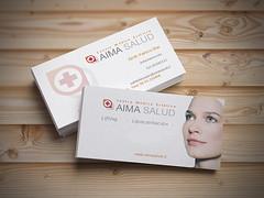 TARJETA AIMA (vivianaveas) Tags: blanco publicidad mockups freepics pepoalcal estudiomarketing