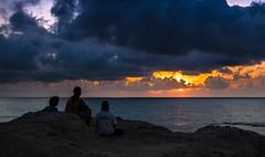 Contemplation (Ennio66) Tags: sunset sea people sun seascape clouds landscape tramonto nuvole gente contemplation contemplazione