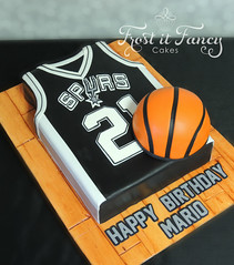 Spurs (Frost it Fancy Cakes) Tags: white basketball cake sanantonio spurs coconut vanilla