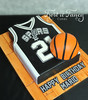 Spurs (Frost it Fancy Cakes) Tags: white basketball cake sanantonio spurs coconut vanilla