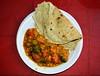 India - Odisha - Bhubaneswar - Restaurant - Chapati And Vegetable Korma