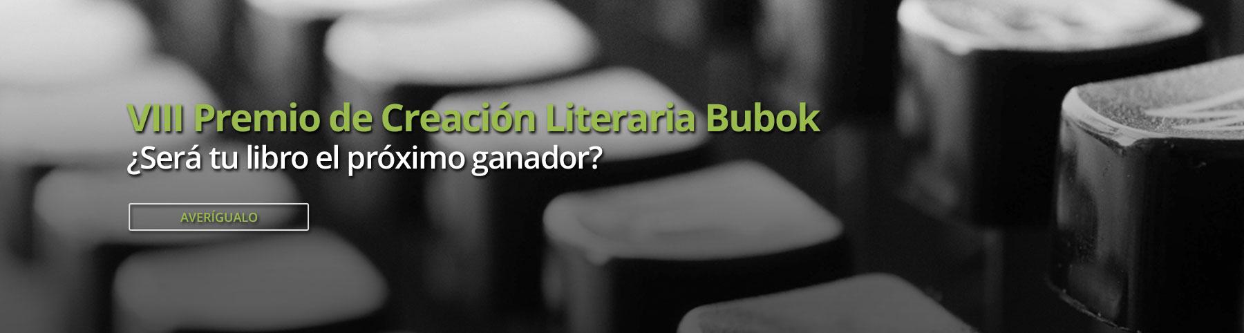 VIII premio literario Bubok