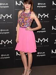 Angy en la presentación de la nueva línea de maquillaje NYX