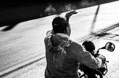 Smoking (Dhammavicaya) Tags: street people blackandwhite bw mirror monocromo young streetphotography smoking persone teen biancoenero izmir specchio fumo motorino sigaretta turchia smirne allaperto ciclomotore altocontrasto