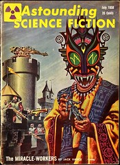 Astounding Science Fiction Vol. 61, No. 5 (July, 1958). Cover by Kelly Freas (lhboudreau) Tags: illustration magazine drawing illustrations drawings pulpfiction 1958 sciencefiction pulp magazines extraterrestrial pulpmagazine freas vance pulpcover magazinecover magazinecovers astounding pulps pulpcovers vintagemagazine jackvance vintagemagazines pulpart pulpmagazines astoundingsciencefiction kellyfreas frankkellyfreas astoundingstories classicsciencefiction vintagepulp astoundingmagazine sciencefictionstories streetsmith miracleworkers july1958 streetandsmith themiracleworkers vintagepulps volume61number5