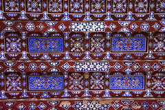 Cairo Northern Cemetery Khanqah of Sultan al-Ashraf Barsbay (1432) Ceiling Detail (3) (Bruce Allardice) Tags: egypt ceiling cairo sultan paintedceiling mamluk easterncemetery northerncemetery khanqah sultanalashrafbarsbay alashraf barsbay tombsofthecaliphs