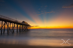 Belmar Fishing Pier Sun Rays (Mike Ver Sprill - Milky Way Mike) Tags: ocean new travel sunset sun seascape water beautiful sunrise dawn golden am amazing nikon gorgeous nj surreal peaceful explore coastal jersey coastline eastcoast mv earlyinthemorning raysoflight landscapephotography riseandshine bestphotographerever nd10 nd1000x november2015 nikond800 michaelversprill mikeversprill peterlikstyle milkywaymike wwwmilkywaymikecom nikontop fotodioxwonderpanasystem belmarfishingpiersunrays 9hardgraduatedfilter skybrilliance