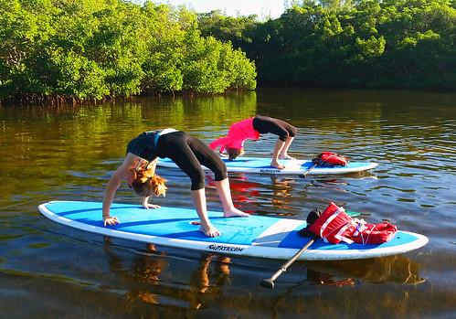 11_30_15 Paddleboard Yoga in Lido Mangroves FL 03