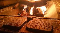 Cuneiform tablets by the fire (Ramen Rehana) Tags: fire prayer clay tablet cuneiform assyrian akkadian