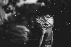 Falling flowers on a windy day!!!!!!!!!!!!!! yes please!!!!!! (privizzinis passion photography) Tags: flowers people blackandwhite motion girl monochrome childhood hair children outside outdoors movement child emotion wind outdoor depthoffield fallingflowers
