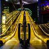 up and down (K.H.Reichert) Tags: night architectur architektur escalator sony nightshot sonycenterberlin colorful architecture cinema kino rolltreppe nachtfoto berlin deutschland de