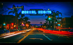 I waited ten years to get this shot! (Sam Antonio Photography) Tags: normal heights sandiego samantoniophotography nightphotography night neon sign street business advertisement signage advertising commercial glow illuminated marketing nightlife nighttime neonsign urban cityscape citylife citystreet bokeh colorimage scene lighttrails lightstreaks neighborhood unique