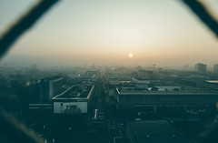Good Morning 2017 (Tim RT) Tags: tim rt stuttgart germany badenwürttemberg south fishy dull foggy nebel sun frontlight yellow new picture happy year winter cold life beatiful city scape landscape cityscape urban visual flickr voyere buildings sky blue photography fuji fujifilm xt2 xf1024mm wide angle