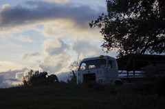 No 65 (Nuria Ocaña) Tags: mountain light sunset sky sunsetsky abandoned number65 shadow night 60mm 60d exploring emporda altemporda nature autumn fall autumnsunset december sunday trees van abandonedvan farm abandonedfarm