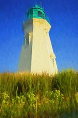Lighthouse Oil Paint (Thomas Dwyer) Tags: lighthouse portdalhousie ontario canada greatlakes topazlabs painterly art nikon coolpixa thomasdwyer