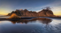 Land of dreams (Toni_pb) Tags: islandia iceland landscape paisaje panorama panoramica nikon nature naturaleza nubes nikkor1424f28 d810 dawn seascape sea stones sunset stokksnes reflejo reflection minimalist mountain vestrahorn warm colors sky agua horizon atmosphere paraiso eden paradise longexposure led largaexposicion