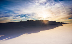A Beautiful Morning On The Ice Sheet (Stuck in Customs) Tags: antarctica ratcliff stuckincustomscom trey treyratcliff horizontal colour color outside outdoors rr dailyphoto southpole frozen ice snow cold mountain sky ground cloud shadow halo sun bright light white blue black brown grey day january 2015 p2017 sony ilce7m2 outdoor daily photo night nighttime hdrphotography stuckincustoms reserve green yellow orange red aurora pro architecture building vertical patio dream holiday stones water nature view planes soft feminine female curve hill clouds ilce7r