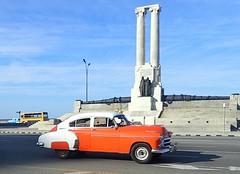 Classic on El Malecón (jmaxtours) Tags: classiccar car elmalecón havana havanacuba habanacuba habana cuba orange 1949chevroletfleetside 1949 chevy chevyfleetside 1949chevyfleetside fleetside