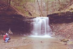 Piatt Park Waterfall (brutus61534) Tags: waterfall piatt park ohio vintage january 2017 exposure