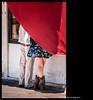 dietro la tenda (magicoda) Tags: italia italy magicoda foto fotografia venezia venice veneto canale canal acqua water maggidavide davidemaggi passione passion luce light emozione emotion realtà reality nero black voyeur couple donna woman noupskirt wife nopanty barefoot photo photographer fotografo legs candid colore color rosso red strange feet nude fuji fujifilm x100 x100t sexy boot 2014 mirrorless x110t