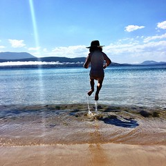 Christmas Day. Ripple jumping!