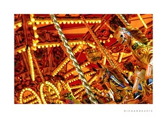 Carousel (RichardK2010) Tags: shiny warmth colours marketsquare nottingham gallopers carousel olympuspenf zuiko12mmf2