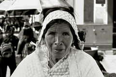 Hard worker. (hectorluna2) Tags: people woman aged work worker tamales tamal blackandwhite black white happy glad story hard life artistic