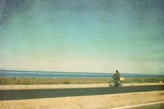 3463 (adnogstreets) Tags: midoum scooter soleil sun vélo bike tractor tracteur charette école school market marché moon lune desert hotel hostel