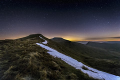Starlit Brecon Beacons (karlmccarthy1969) Tags: breconbeacons wales sky stars mountains mountain snow wideangle nikon tamron