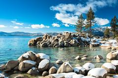 Lake Tahoe - Sand Harbor Beach (Slobodan Miskovic) Tags: laketahoe nevada south sandharbor beach winter snow water lake landscape nature