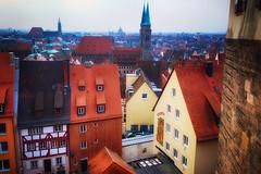 Old Town Nuremberg, Germany (` Toshio ') Tags: toshio nuremberg germany europe european europeanunion rooftops oldtown castle nurembergcastle fujixe2 xe2 steeple church