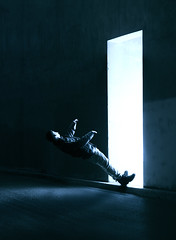 169/365 (lukerenoe) Tags: conceptual composite lukerenoe light levitation 365 edit art denver downtown shadow dark blue eerie mystery creative creepy