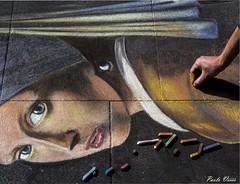 Ricordando Vermeer - Remembering Vermeer (Pablos55) Tags: mano ritratto vermeer orecchino perla gessetti chalk hand portrait earring pearl