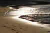 Golden Waves II (Diego3336) Tags: ocean sunset sea brazil sun reflection beach nature water brasil riodejaneiro paraty foot gold golden sand waves afternoon shoreline parati wave step shore footprint