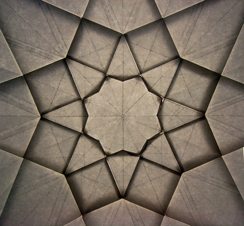 Octagonal Star Geometric Progression, (backlit) 3 of 3