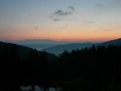 Good morning to our friends! (monika & manfred) Tags: wood sky reflection clouds sunrise dark landscape dawn austria morninglight pond view rays mm lungau fungerlosalm utataview msh0715 msh07151